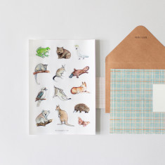 Australian Fauna Sticker Set - Illustrated Transparent Stickers