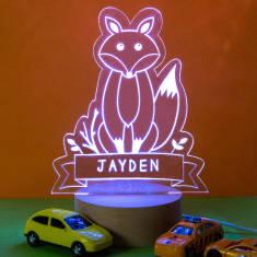 Personalised Fox Children's Night Light