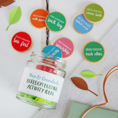 Personalised Grandad And Me Activity Ideas Jar