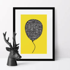 Balloon Personalised Typographic Art