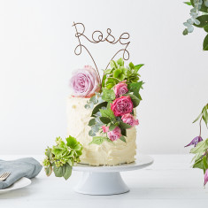 Personalised Name Wire Cake Topper