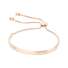 Personalised Signature Bracelet Rose Gold Vermeil