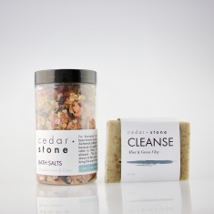 Earthy Bath Salts + Cleanse Bar Pack