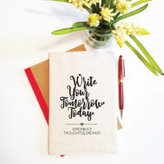Write your tomorrow today reusable notebook cover (including notebook)