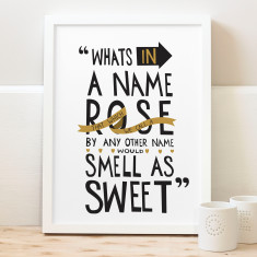 What's in a name Shakespeare print