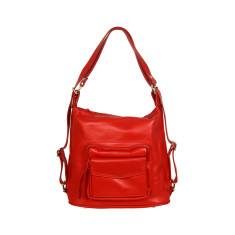 Regina full grain convertible bag in red