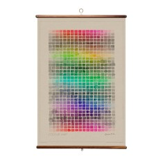 Colour map wall hanging