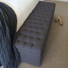 Charcoal linen blanket box