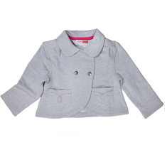 Girl's cropped jacket in grey