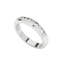 Round brilliant cut diamond 9 carat white gold ring
