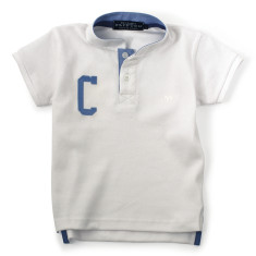 The Cricketer - personalised white polo