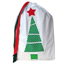 White Christmas santa sack