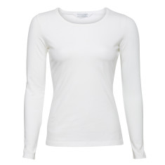 Long sleeve stretch top in white