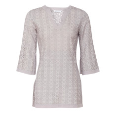 Broderie anglaise tunic in smoke