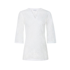Broderie anglaise tunic in white