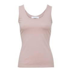 Essential cotton stretch singlet in vintage pink