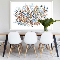 Coral Water Framed Art