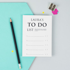 Personalised A6 Classic To Do List Notepad