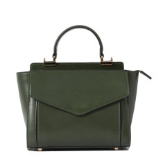 Street Style leather shoulder bag in green