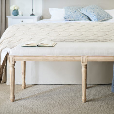 Bed ottoman with oak frame