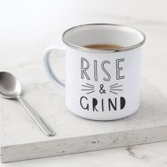 Rise and Grind Enamel Mug