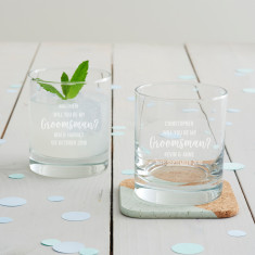 Personalised 'Will You Be My Groomsman?' Whisky Glass