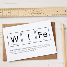 Elements of a wife card