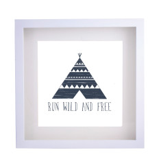 Run wild and free framed print