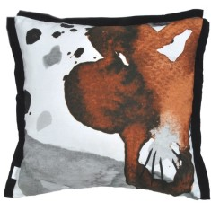 Wild pansy cushion cover