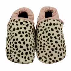 Pounce into the wild leather baby shoes