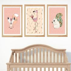 Into the wilderness flamingo animal prints (set of 3)