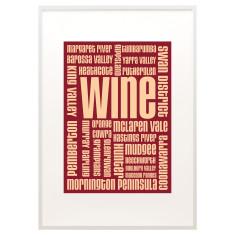 Australian wine text print