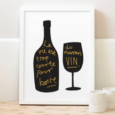 French wine print
