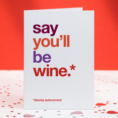 Be wine funny autocorrect card