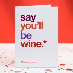 Be wine funny autocorrect card