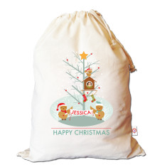 Winter owls personalised Santa sack