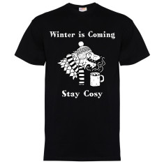 Winter is coming men's black t-shirt