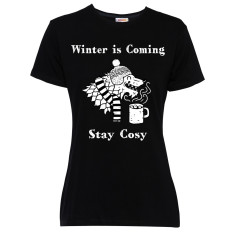 Winter is coming women's black t-shirt