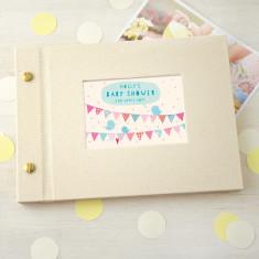 Personalised Baby Shower Mini Photo Album
