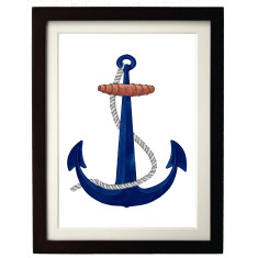Ships Anchor Framed Print