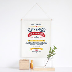 Superhero chart personalised wall banner