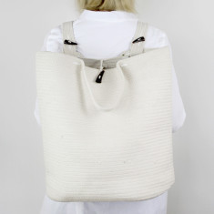Santorini Market Backpack in Cream