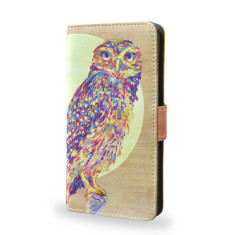 Watercolor Owl Smartphone Wallet Case