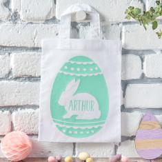 Personalised Bunny Easter Egg Hunt Bag
