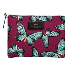 Wouf large pouch in butterfly print