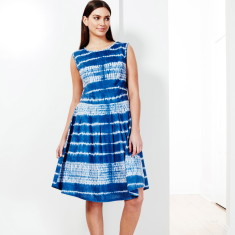 Sleeveless dress in shibori