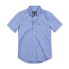 Boys Blue Gingham Short sleeved Shirt