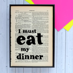 Shakespeare foody quote print
