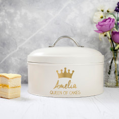 Personalised Queen Cake Tin