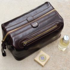 Duno L Men's Leather Wash Bag